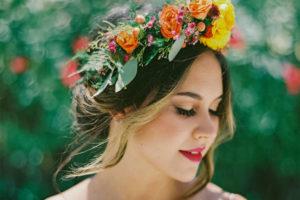 Esküvői virágkorona