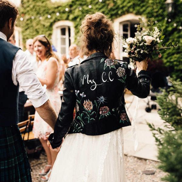 Bőrdzseki esküvőre
