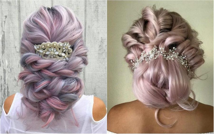 Színes esküvői haj