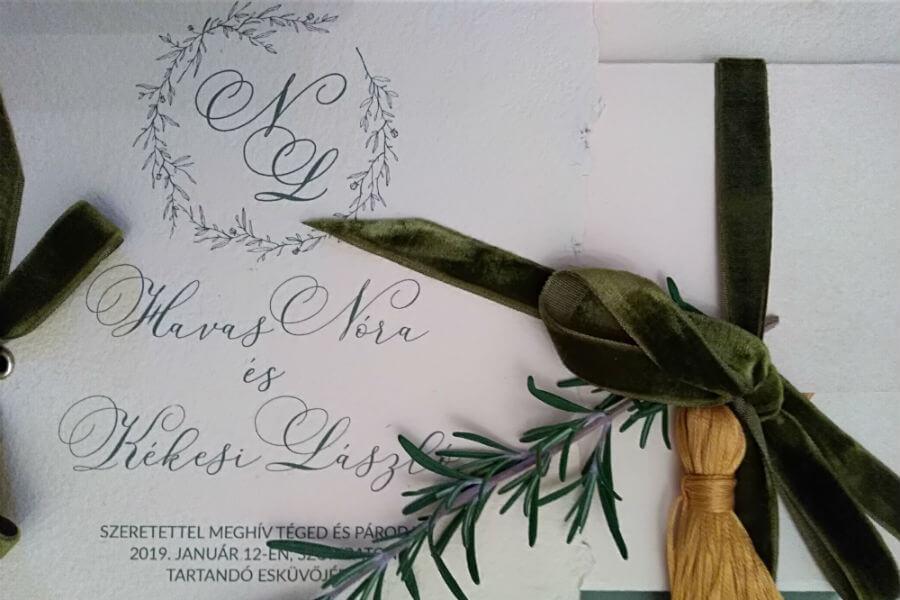 WEDDING BY BLOOM - esküvői meghívó