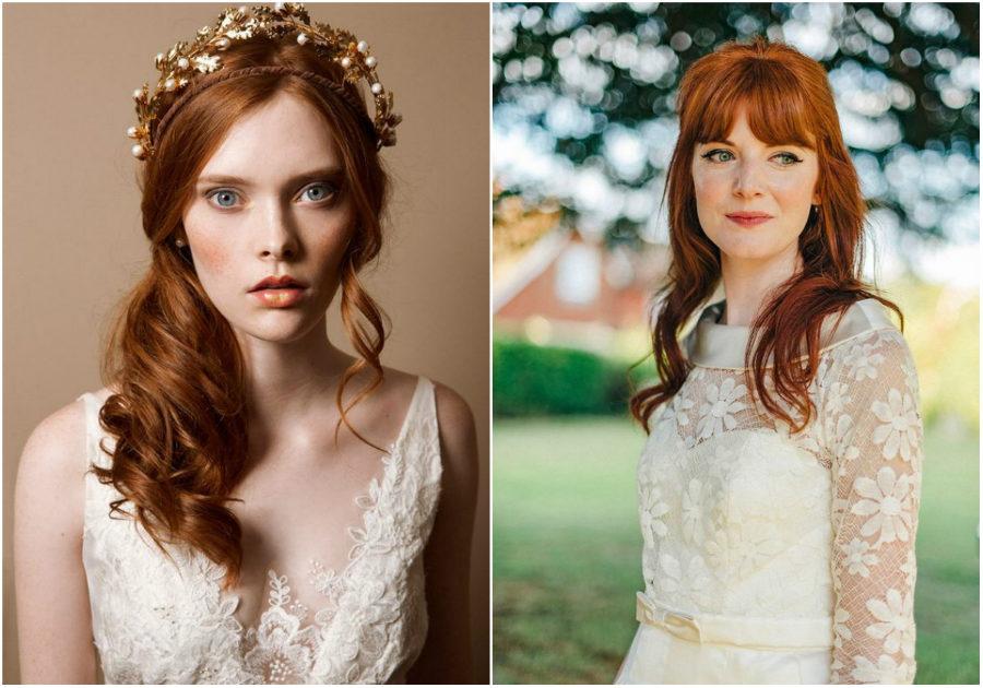 esküvői smink vörös hajhoz