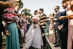 A-vonalú esküvői ruha