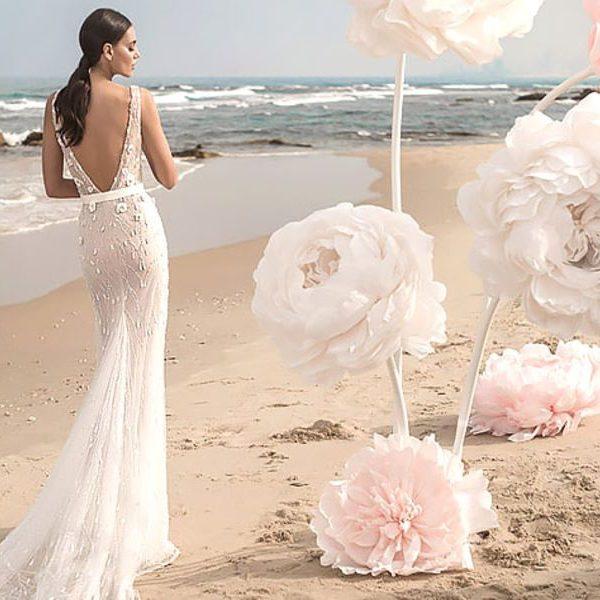 sellőfazonú esküvői ruha